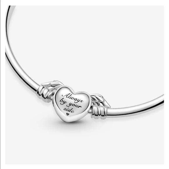 Pandora Winged Heart Bangle